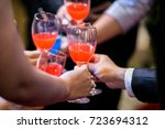 close up hands of business team ... | Shutterstock . vector #723694312