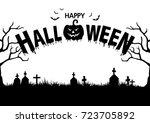 halloween party background | Shutterstock .eps vector #723705892