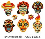 mexican day of dead traditional ... | Shutterstock .eps vector #723711316