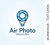 air photo logo design template. ... | Shutterstock .eps vector #723712426