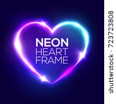 Night Club Neon Heart Sign. 3d...