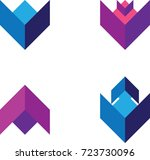 abstract vector icons  ...   Shutterstock .eps vector #723730096