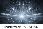 grey light rays motion blurred. ... | Shutterstock . vector #723733732