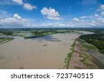 the helicopter shot from dhaka  ... | Shutterstock . vector #723740515