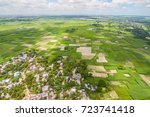 the helicopter shot from dhaka  ... | Shutterstock . vector #723741418