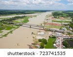 the helicopter shot from dhaka  ... | Shutterstock . vector #723741535