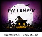 halloween background. | Shutterstock .eps vector #723745852
