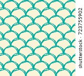 mermaid tail seamless pattern.... | Shutterstock .eps vector #723755902