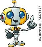 Cute Cartoon Robot Holding...