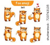 set kit collection sticker... | Shutterstock .eps vector #723763135