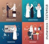 arab business people 2x2 design ... | Shutterstock .eps vector #723769018