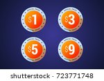 special price medals for... | Shutterstock .eps vector #723771748