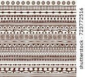seamless tribal pattern in the... | Shutterstock .eps vector #723772516