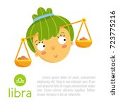 libra cute zodiac sign... | Shutterstock .eps vector #723775216