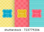 retro chic seamless pattern... | Shutterstock .eps vector #723779206