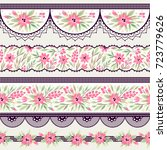 set of vintage borders. could... | Shutterstock .eps vector #723779626