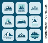vector set of mountain... | Shutterstock .eps vector #723783835