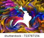 swirls of fate series. abstract ... | Shutterstock . vector #723787156