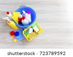 equipment for cleaning | Shutterstock . vector #723789592