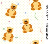 vector seamless pattern with... | Shutterstock .eps vector #723799438