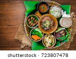 tradition northern thai food.... | Shutterstock . vector #723807478
