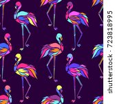 vector seamless pattern with... | Shutterstock .eps vector #723818995