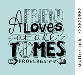 hand lettering a friend loves... | Shutterstock .eps vector #723820882