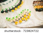 delicious sweets on wedding... | Shutterstock . vector #723824722