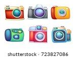 set of cartoon cameras   Shutterstock .eps vector #723827086