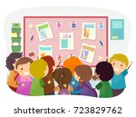 illustration of stickman kids... | Shutterstock .eps vector #723829762