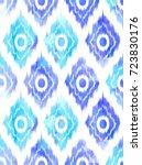 seamless ikat textile pattern ... | Shutterstock .eps vector #723830176
