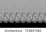 seamless black and white...   Shutterstock . vector #723837382
