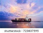 logistics and transportation of ... | Shutterstock . vector #723837595