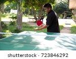 player pingpong outdoor    Shutterstock . vector #723846292
