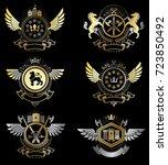 vector classy heraldic coat of...   Shutterstock .eps vector #723850492