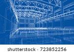 industrial zone sketch. vector... | Shutterstock .eps vector #723852256