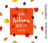 autumn sale vector illustration ... | Shutterstock .eps vector #723855952