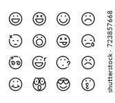 icon face  vector | Shutterstock .eps vector #723857668