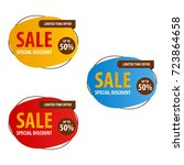special offer sale banner for... | Shutterstock .eps vector #723864658