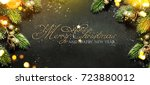 christmas and new year s... | Shutterstock . vector #723880012