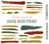 watercolor  ink or paint brush... | Shutterstock .eps vector #723884596