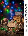 homemade christmas gingerbread... | Shutterstock . vector #723885472