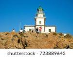 Lighthouse Of Santorini Greece...