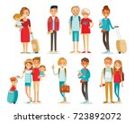 vector set of people traveling | Shutterstock .eps vector #723892072
