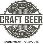 vintage craft beer bar sign | Shutterstock .eps vector #723897946