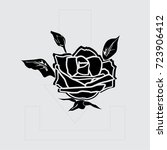 rose vector icon | Shutterstock .eps vector #723906412