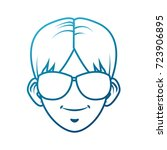 young man with sunglasses... | Shutterstock .eps vector #723906895