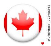 flag of canada in the form of a ... | Shutterstock .eps vector #723906958