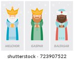 tags of the three wise men ... | Shutterstock .eps vector #723907522