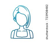 young woman cartoon | Shutterstock .eps vector #723908482